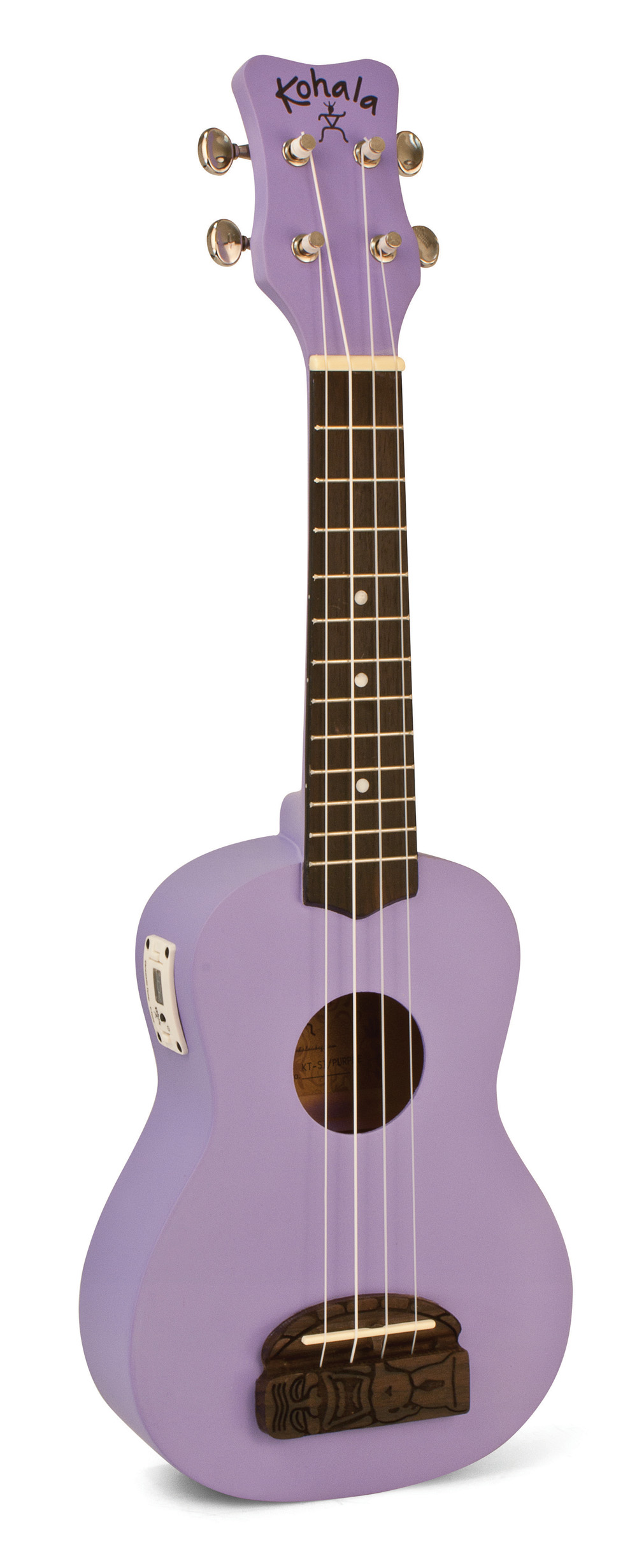 Kohala KT-STPU Tiki Uke Purple Soprano Ukulele with built in tuner