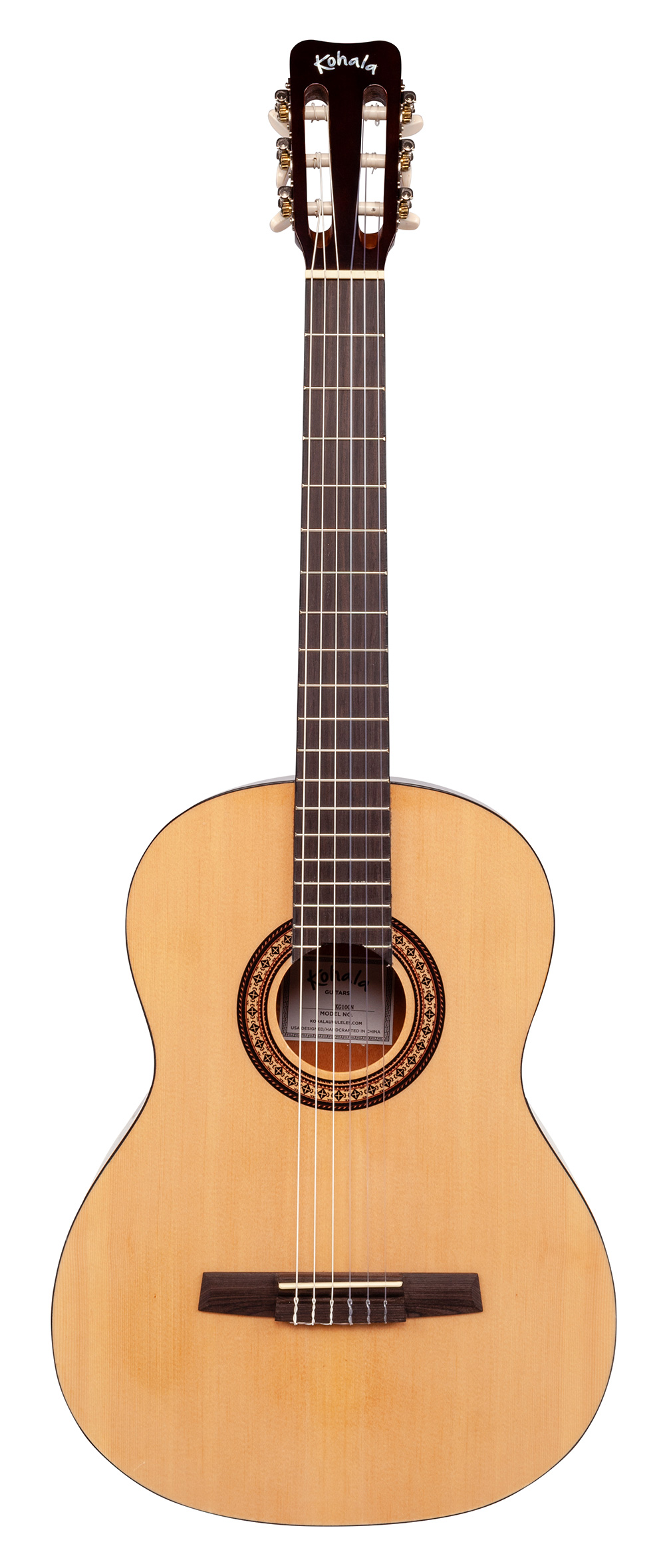 full size nylon string acoustic guitar w bag kohala ukuleles. Black Bedroom Furniture Sets. Home Design Ideas