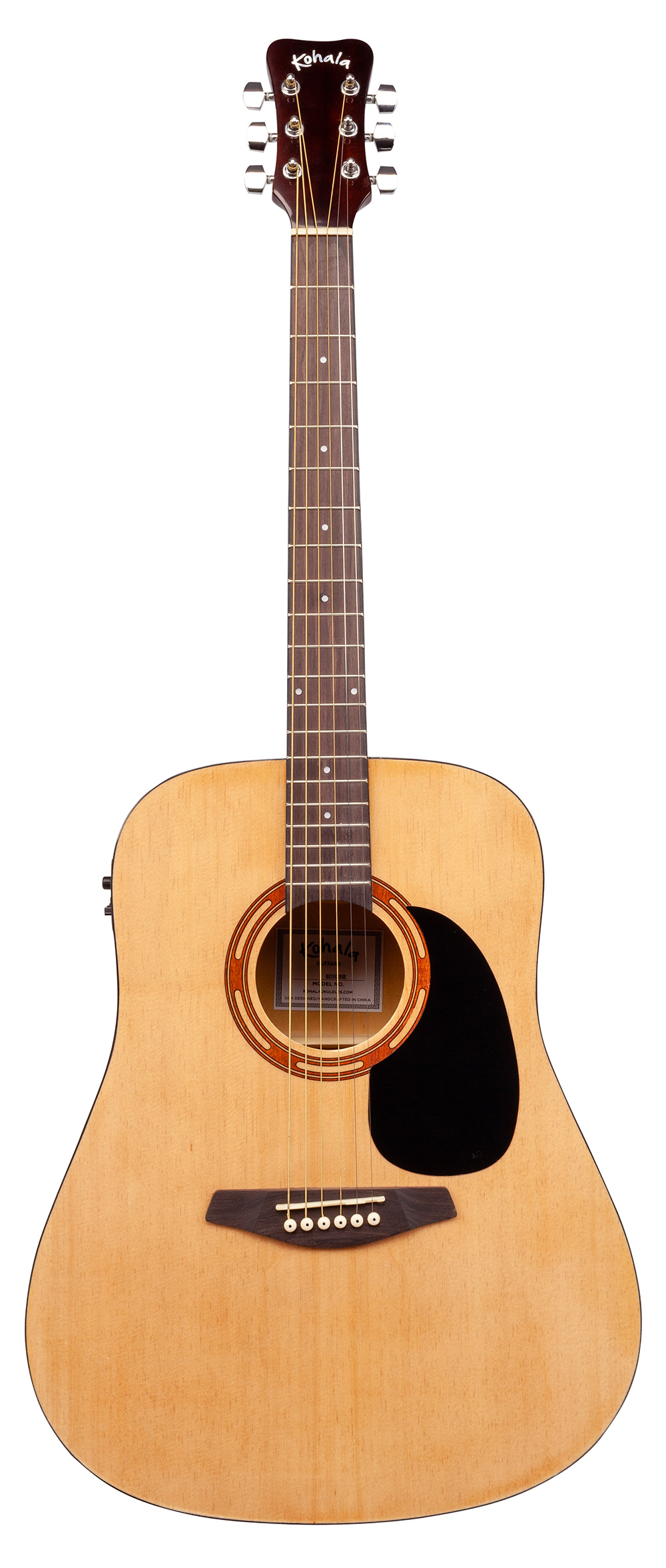 full size steel string acoustic electric guitar w pickup onboard tuner and bag kohala ukuleles. Black Bedroom Furniture Sets. Home Design Ideas