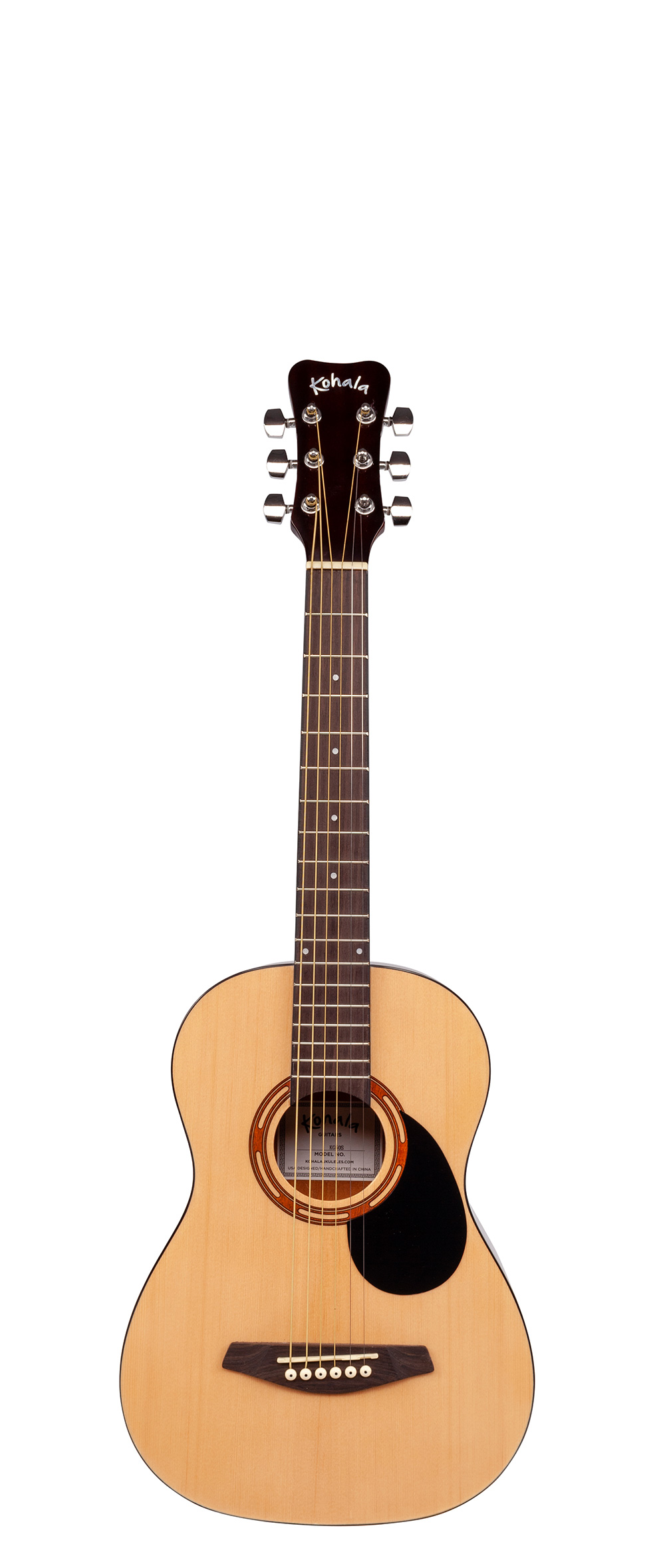 1 2 size steel string acoustic guitar w bag kohala ukuleles. Black Bedroom Furniture Sets. Home Design Ideas